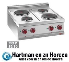 E7/4P7T - Elektrische kookplaat 4 ronde platen -Top- DIAMOND Optima 700