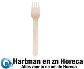 CD903 -Houten bestek vork 16cm