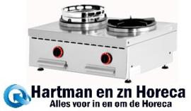 WGX2-8/T - Wok gas tafelmodel, 2 vuren (2x 13 kW) mm (BxDxH) : 800x600xh275/325 DIAMOND