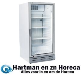 SC182 - Geventileerde gekoelde vitrine koelkast met glazendeur 170 Liter TOPCOLD