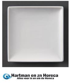 U155 - Olympia vierkant bord Wit 24 cm. Prijs per 12 stuks.