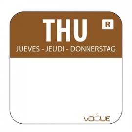 L934 - Kleurcode sticker donderdag/bruin