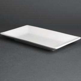 CC894 - Olympia  rechthoekige serveerschaal Wit 25 x 15 cm. Prijs per 4 stuks.