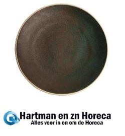 FA325 -Olympia Canvas gewelfde borden donkergroen 27cm -6stuks