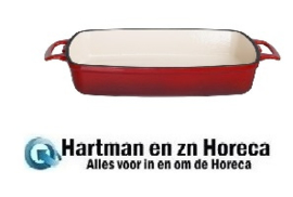 GH319 -Vogue rechthoekige gietijzeren ovenschaal rood 1,8L