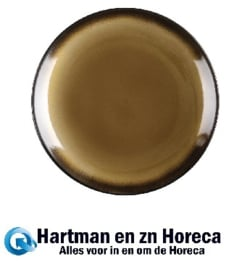 CW529 -Olympia Nomi ronde tapascoupeborden geel-zwart 25,5cm