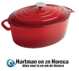GH313 -  Vogue ovale braadpan 5 liter rood