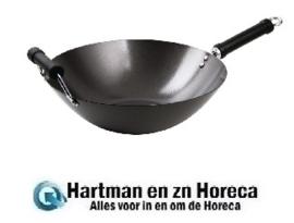 K250 - anti-kleef wok met platte bodem 35,5cm