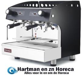 COMPACT/2PB - Espresso apparaat 2 groepen, half-automatisch - ZWART - DIAMOND