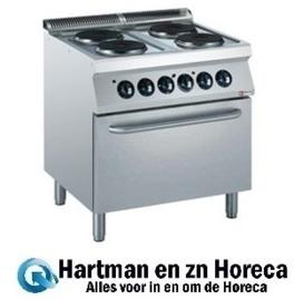 E17/4PF8-N -  Elektrisch fornuis 4 platen, elektrische oven GN 2/1 DIAMOND Medium 1700