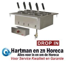 EDI/CP7 -  Elektrisch pastakoker , 40 liters, inbouw DIAMOND Show Cooking