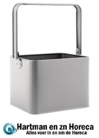 GM296 - Olympia gegalvaniseerde tafelorganiser grijs 18x15,5x13,5cm