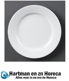 CB483 - Olympia Whiteware borden met brede rand - 30cm. Prijs per 6 stuks.