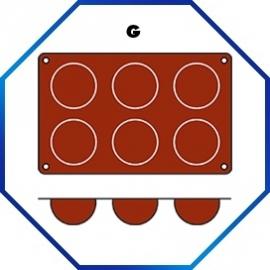 070056 - BAKMAT FINANZIERA 1/3 GN in blister-verpakking ROND 70 MM / HOOG 35 MM