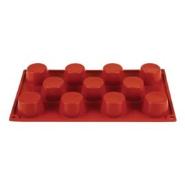 N934 - Pavoni Formaflex siliconen bakvorm 11 mini-muffins