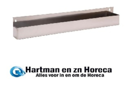 DL222 - RVS flessenbak 100cm
