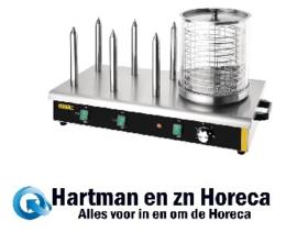 DA567 -Buffalo hotdogwarmer met 6 warmhoudpennen