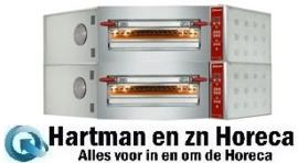 CGD/2-DG - Elektrische hoek pizzaoven, 2 kamers, 2x 8 pizza's Ø 350 mm DIAMOND