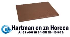 GH792 -Hygiplas LDPE snijplank bruin 305x229x12mm