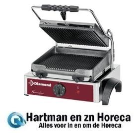 GR42 - Elektrische panini grill, geribde platen DIAMOND