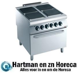 """E22/4PQF8(230/3)-N - Elektrisch fornuis 4 platen op elektrische oven """"Maxima 2200"""" DIAMOND"""
