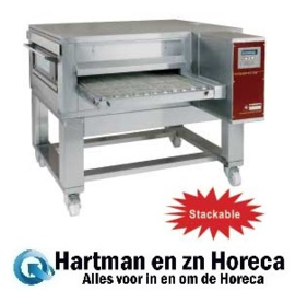 FTGV 65/110-N - Gas pizza band tunnel-oven geventileerd, breedte 650 mm DIAMOND