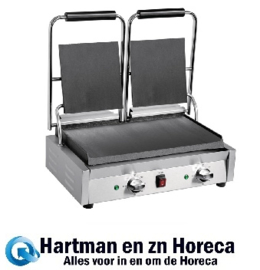 DY998 -Buffalo Bistro dubbele contactgrill glad/glad