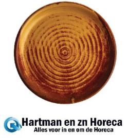 FA309 -Olympia Canvas ronde borden met smalle rand roestoranje 18cm -6stuks