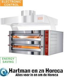 GDX8/35-DP -  Elektrische oven, 2 kamers, 2x 4 pizza's Ø 350 mm DIAMOND