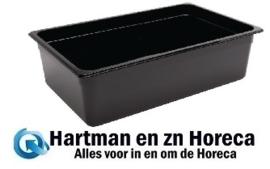 U456 - Vogue polycarbonaat bak zwart GN1/1 150 mm