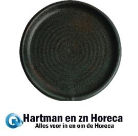 FA323 -Olympia Canvas ronde borden met smalle rand groen 18cm -6stuks