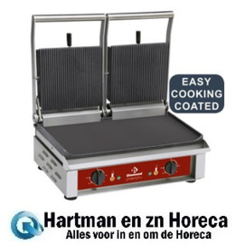 CONTACT DG2/SN - Contact-grill DUBBEL, geëmailleerde platen DIAMOND