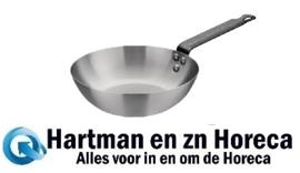GG721 -Vogue carbonstalen wokpan 20cm