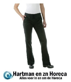 A431 -Chef Works Executive dames pantalon zwart