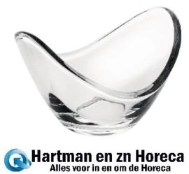 CN643 -Olympia ovale glazen dipschaal 9cm
