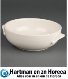 U136 -Olympia Ivory soepkop met handvatten 425ml