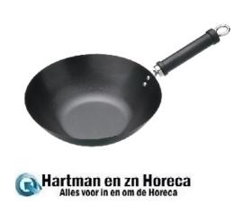 k249 - Vogue wok anti-kleeflaag platte bodem 30 cm
