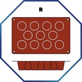 070072 - BAKMAT MEDIUM BABA 1/3 GN in blister-verpakking ROND 45 MM / HOOG 48 MM