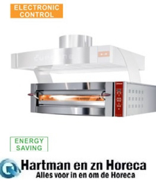 GDX6/35-DP Elektrische oven, 1 kamer, 6 pizza's Ø 350 mm -Diamond