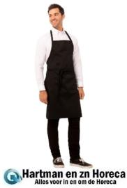 A924 - Chef Works halterschort zwart
