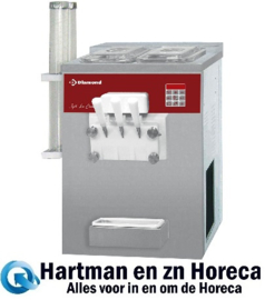 DST/2-15AP - Soft ice-cream machine, 2 smaken + 1 mengsel, 15 Kg/u luchtcondensor DIAMOND
