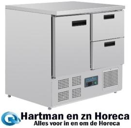 U637 - Polar G-serie koelwerkbank 1 deur en 2 laden 240 Liter