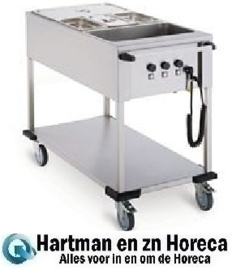 86.4705 - Bain-Marie wagen 3 x 1/1 Gn -  MOBILE CONTAINING