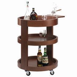 """CRL/3 - Ronde kar voor flessen, 3 niveau's hout """"notelaar"""""""