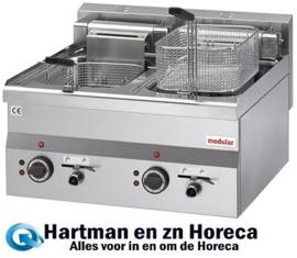 316655 - Elektrische friteuse - 400V - 10L+10L - Modular