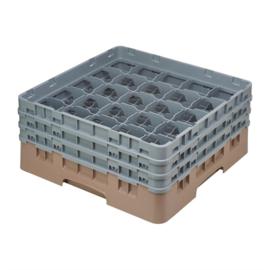 DW556 -Cambro Camrack vaatwaskorf met 25 compartimenten max. glashoogte 13,3cm Met deze robuuste vaatwaskorf van Cambro beschermt u uw glazen tegen