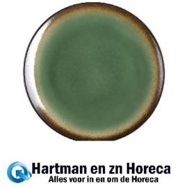 CW527 -Olympia Nomi ronde tapascoupeborden groen-zwart 25,5cm