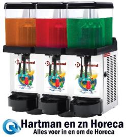 DD12/3T - Gekoelde dranken dispenser 3 x 12 Liter DIAMOND