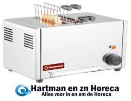D2CM-XP - Elektrische toaster (croque-monsieur), 2 tangen - Roestvrij staal DIAMOND