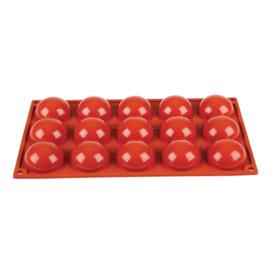 N936 - Pavoni Formaflex siliconen bakvorm 15 halve bollen